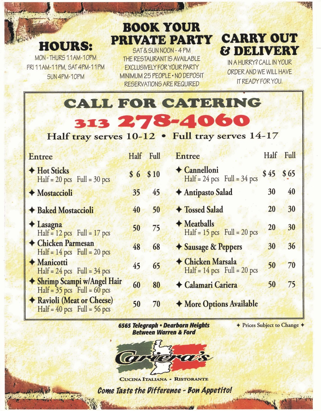 Catering Menu (Large)