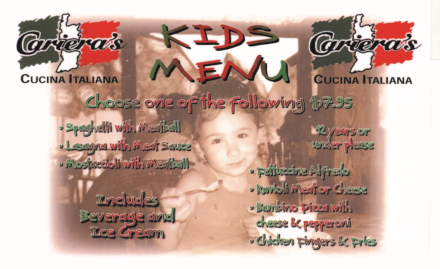 Kids Menu (Large)