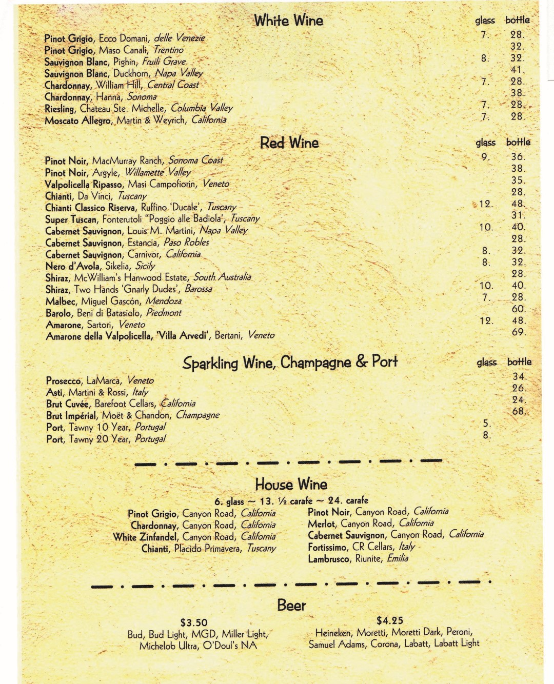 Wine List (Large)